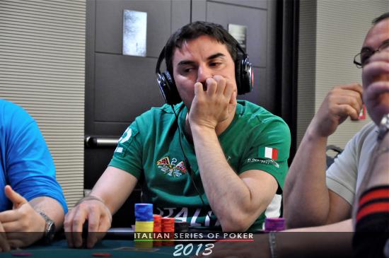 Alessandro Adinolfo, chipleader del Main Event
