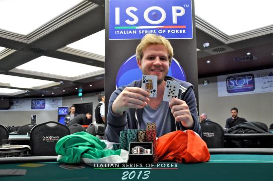 Davide Costa, vincitore dell'evento Isop League
