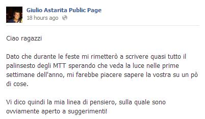 Giulio Astarita Calendario PClub