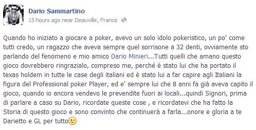 Dario Sammartino su Minieri