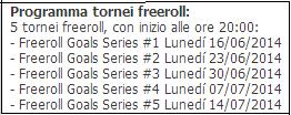 Goal Series tabella Sisal