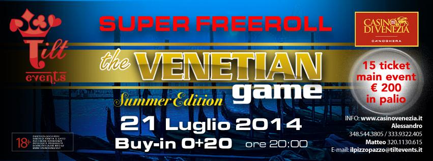 Venetian Game Freeroll Tilt Events