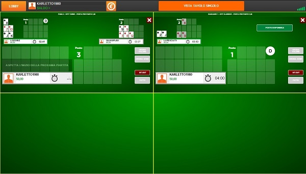 multi tavolo open face poker