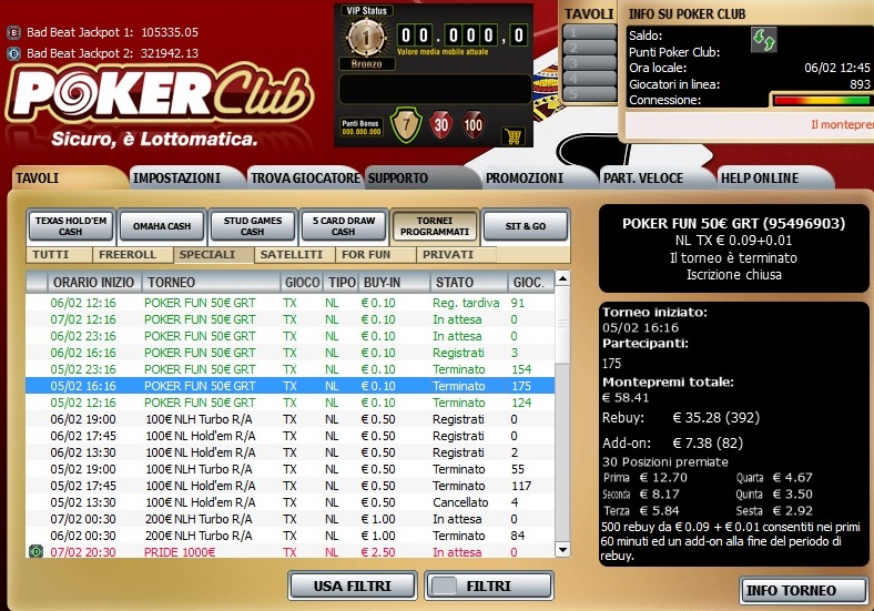 poker club lottomatica