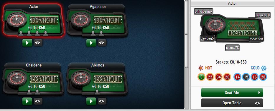 roulette pokerstars