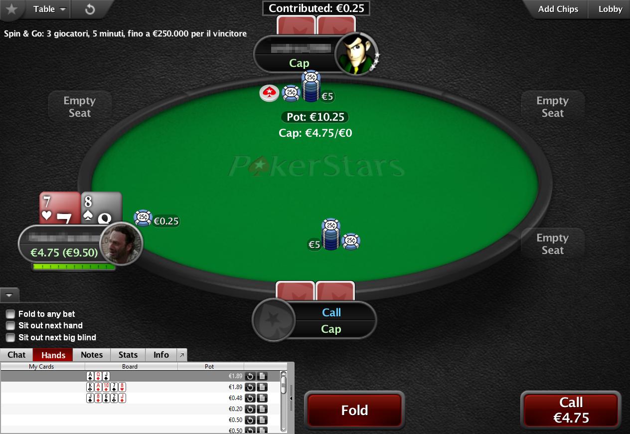 cap tavoli pokerstars