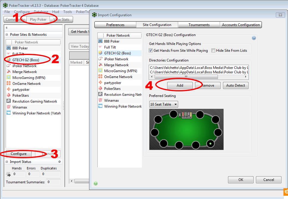 pokertracker4-poker-club-configurazione