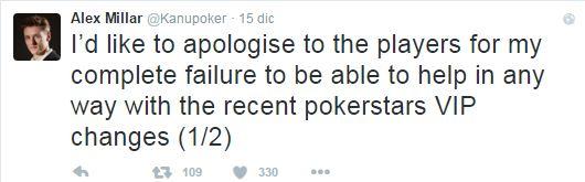 alex millar addio pokerstars tweet 1