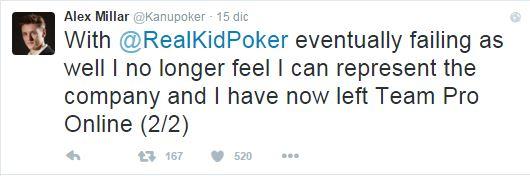 alex millar addio pokerstars tweet 2