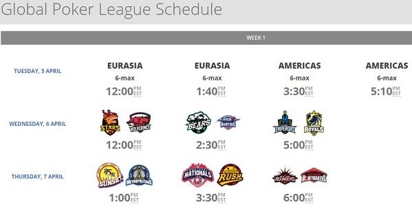 schedule week1