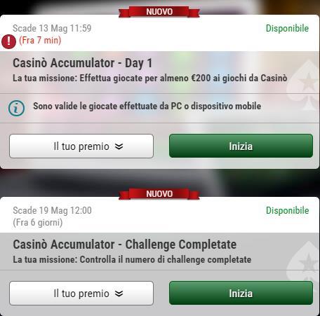 missioni casino accumulator pokerstars