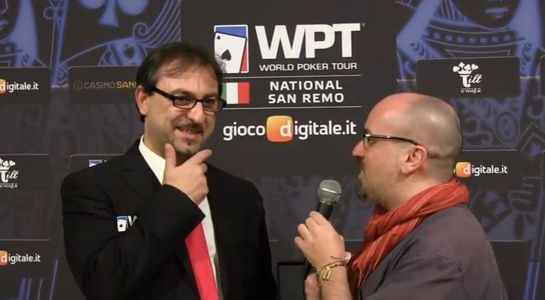 Goffredo in una recente intervista con il nostro Marco Fava in occasione del WPT National Sanremo