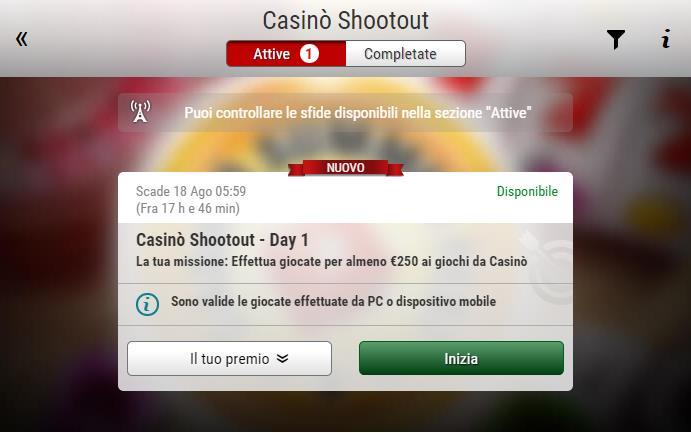 Gioca a Penalty Shootout su Casino.com Italia