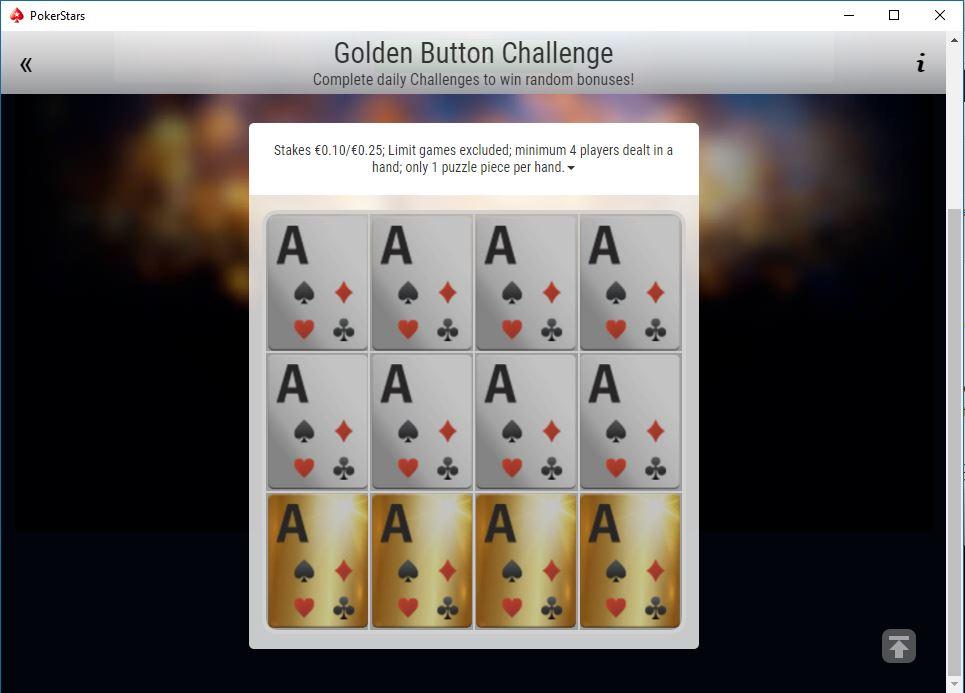 golden button challenge missione
