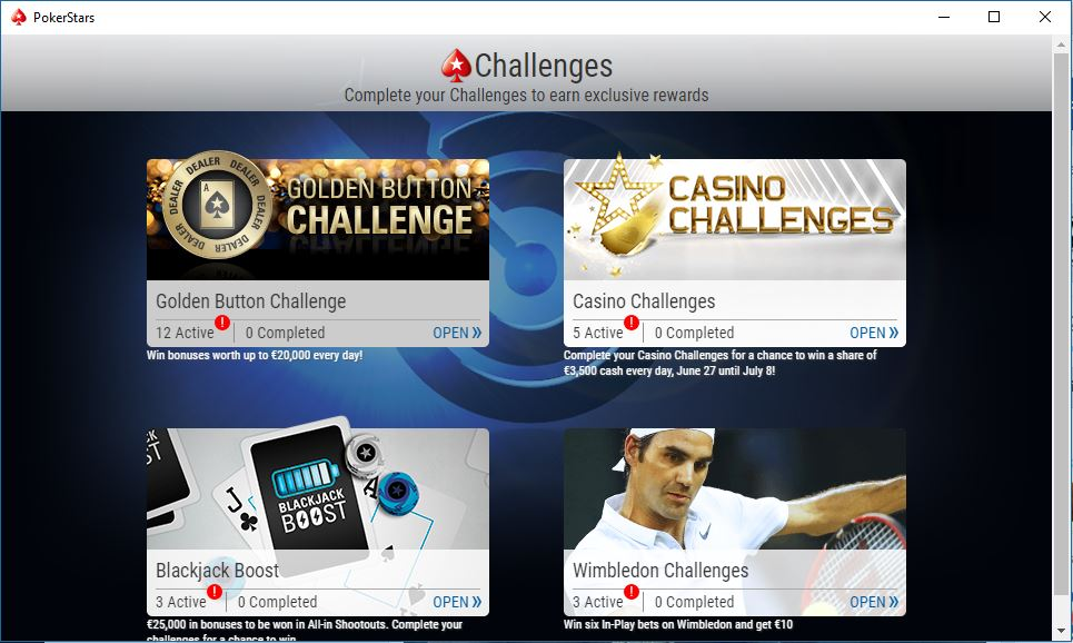 golden button challenge screen lobby