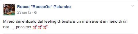 rocco palumbo eliminazione psc barcellona status facebook