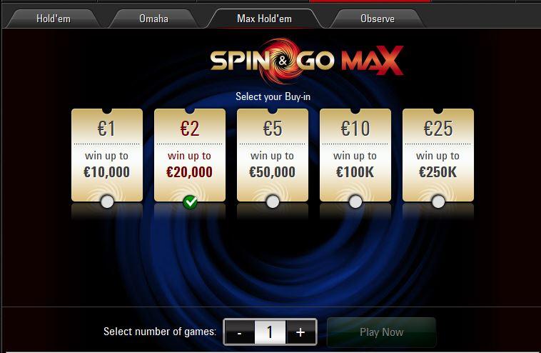 spin go max buy in