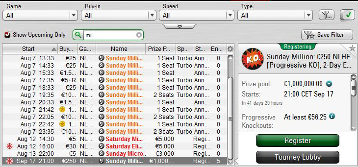 sunday-million-IX-17-settembre