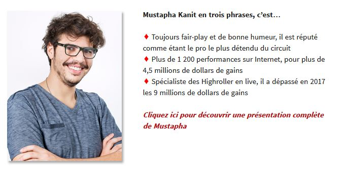 mustapha kanit team pro winamax box presentazione