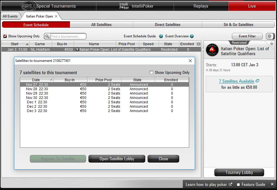 ipo sponsored by pokerstars lobby client