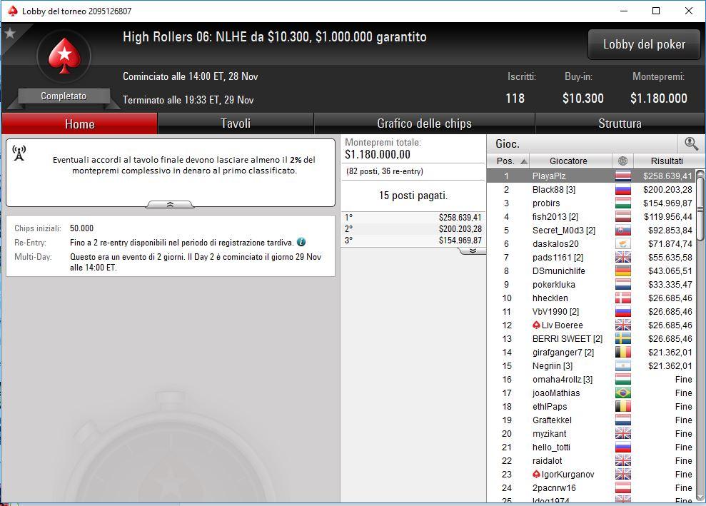 dario sammartino quinto evento sei highroller pokerstars