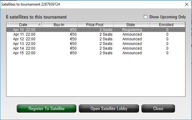 satelliti ipo pokerstars schedule