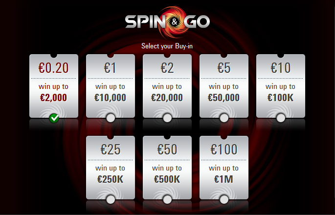 spin go 20 cent pokerstars