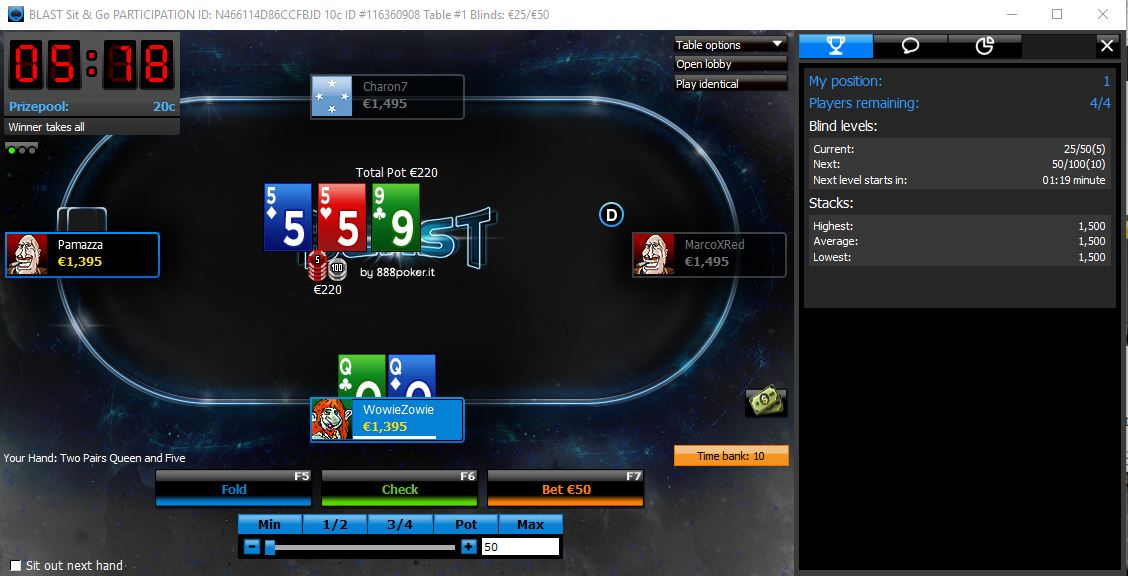 888poker software finestre popup