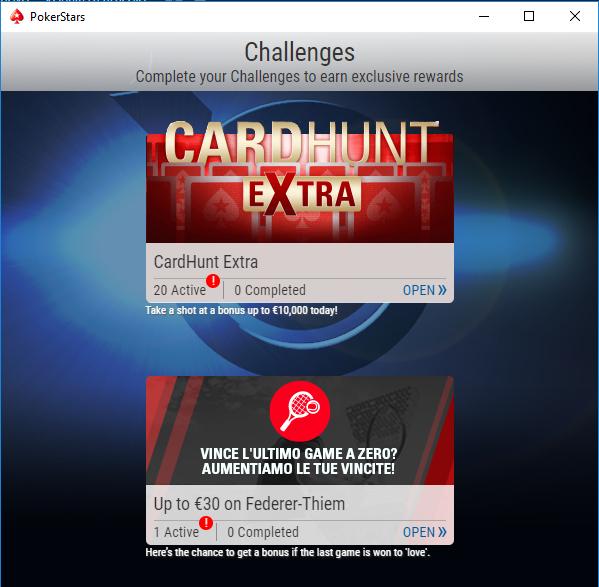 card hunt extra sfide