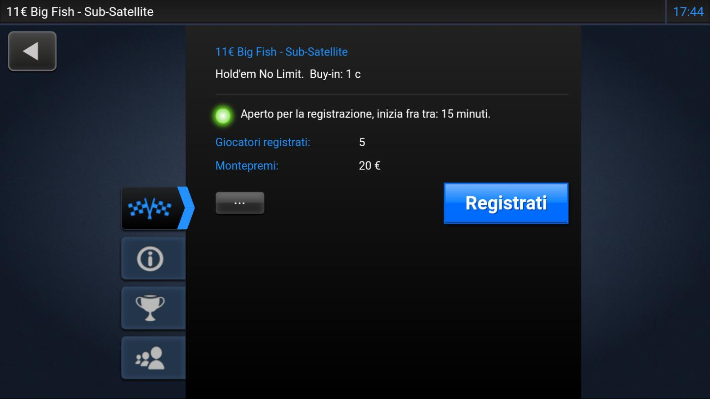 recensione 888poker android gameplay lobby del torneo iscrizione