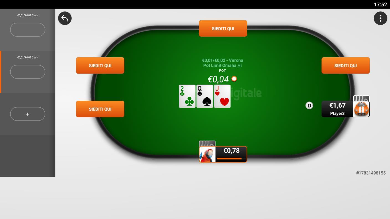 recensione app android gioco digtale tavolo cash game