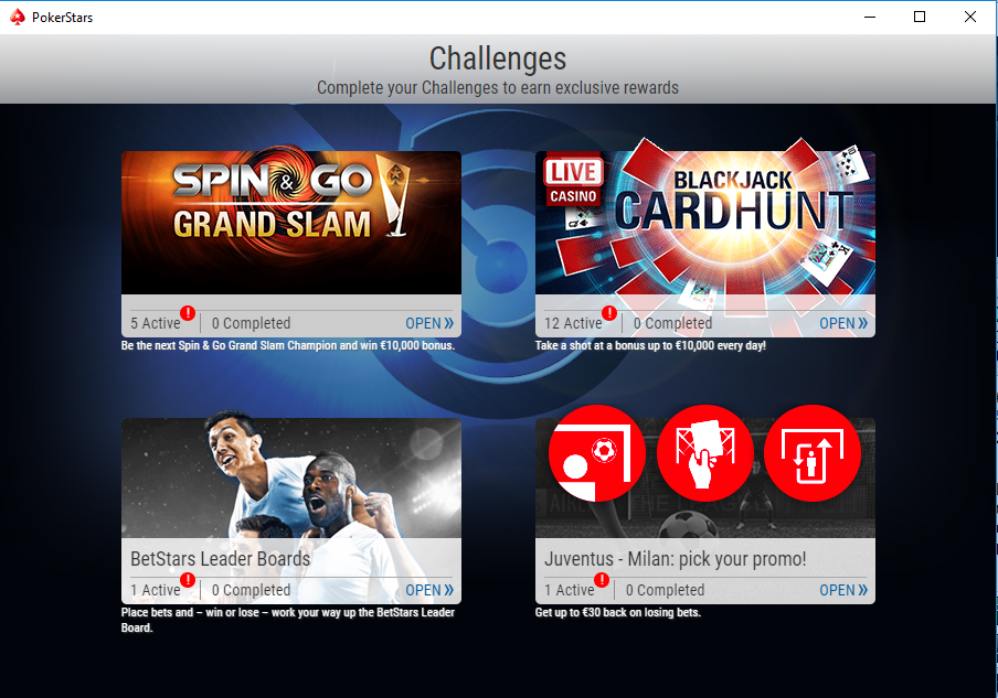 sfide spin go grand slam pokerstars