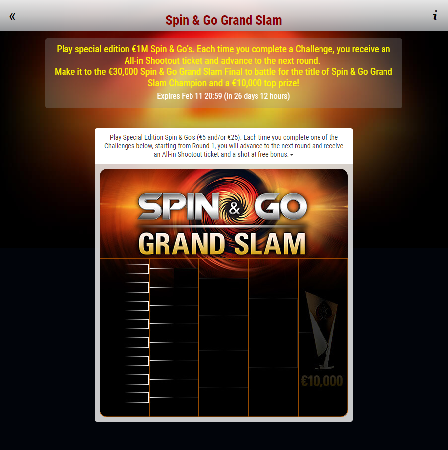 spin go grand slam lobby sfide