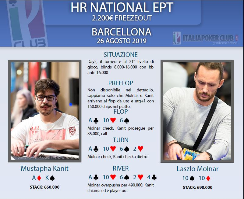 mano eliminazione mustapha kanit high roller ept national barcellona