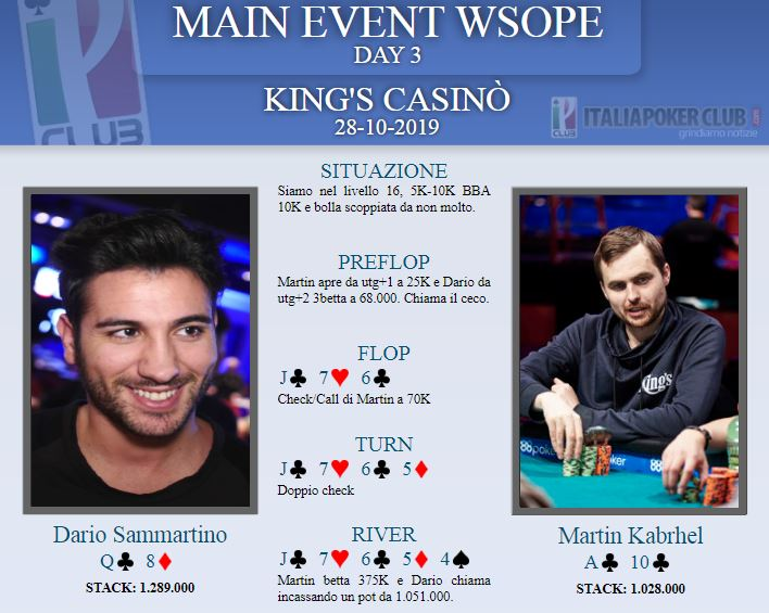 mano sammartino kabhrel main event wsope