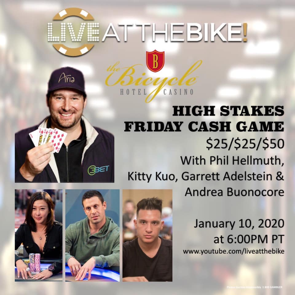 high stakes cash game at the bike andrea buonocore phil hellmuth