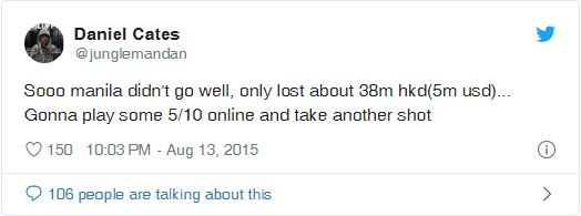 daniel cates tweet trasferta manila disastrosa