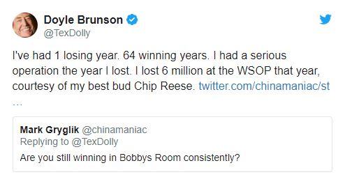 doyle brunson tweet bilancio carriera