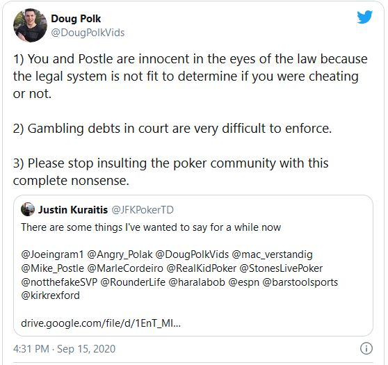 doug polk tweet kuraitis
