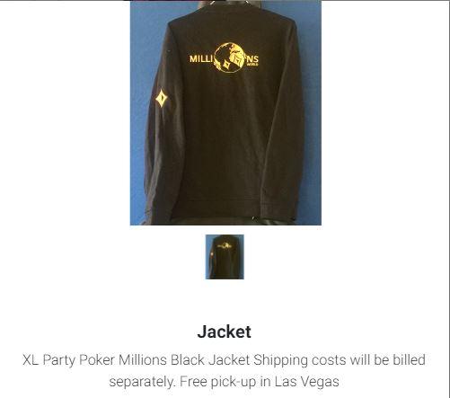 giacca partypoker millions mike sexton