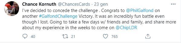 chance kornuth tweet fine sfida phil galfond