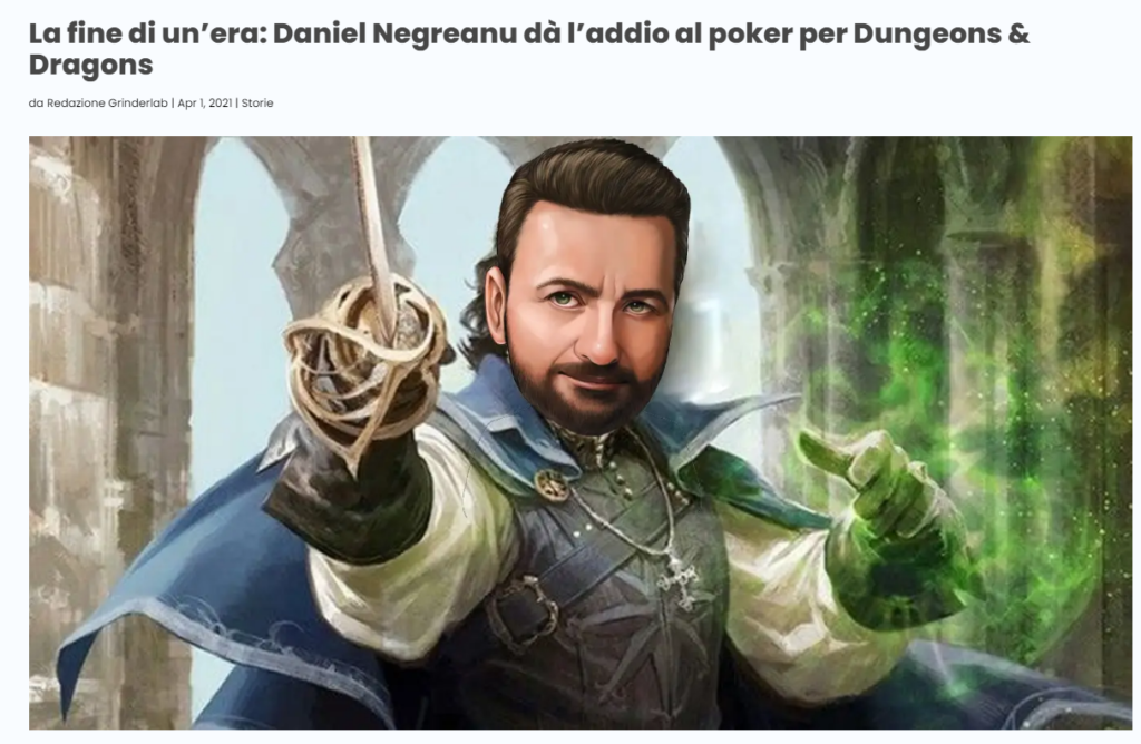 pesce d'aprile poker daniel negreanu dungeons and dragons